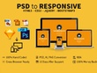 Convert psd to html, png to html, sass, and bootstrap.