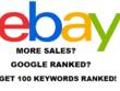 Ebay Marketing Rank 100 Keywords ON Google