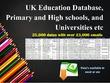 Bespoke UK Schools and University Database 25K