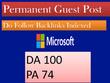 Guest post on Microsoft high DA 100