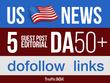 Publish 5 Guest Post US News Sites DA50