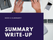 Write a summary of scientific journal article or research report