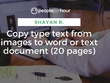 Copy type text from images to word or text document (20 pages)