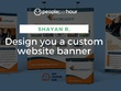 Design you a custom website banner