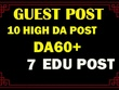 All In One Ultimate Guest post Package with .EDU Blogs