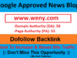 Add A Guest Post On Google Approved News Blog Weny.com - DA 58