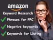 Do in depth amazon keyword research