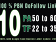 Make 5 permanent homepage pbn backlinks da 50 high tf cf
