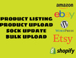 Manage and upload to your Amazon, eBay, Etsy seller account