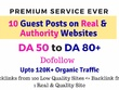 Publish guest posts on DA50-DA80+ for 10 Top quality websites