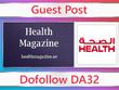 Guest post on Health Magazine - healthmagazine.ae - DA32