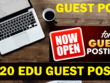 Guest Post on 20 EDU High Authority Dofollow Quality Blog