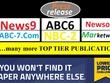 Publish your 5 content DR-80 Google Top 5 Press release sites