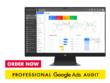 Create a professional Google Ads audit with recommendations