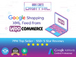 Set your Google shopping feed In woocommerce for up to 100 items