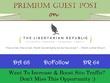 Write & Publish Guest Post on TheLibertarianRepublic.com, DR 64