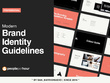 Design brand book guidelines, branding manual style guide