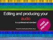 Edit and Mix your Podcast/YouTube audio