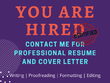 Write your Professional Resume and Cover Letter with in 6 hour