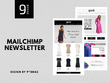 Responsive and eye-catchy Mailchimp newsletter