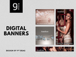Professional banner ad set - 8 any size banners
