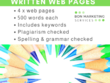 Professionally write 4 web pages (inc. SEO & keywords)