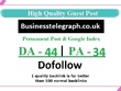 Add A Dofollow Guest Post On Businesstelegraph.co.uk- DA - 44