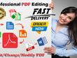 Edit, convert, change data and combine PDF