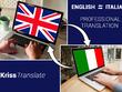 Professionally translate English to Italian and back