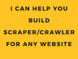Build you a web scraper/crawler for any website