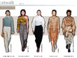 Analyse and present the seasons key shapes from catwalks