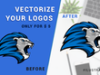 I will convert 2 images or logos to vectors