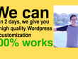 Design awesome Wordpress websites.  Delivery In 2 days