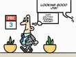 Draw up to 3 panels comic strip about office humor