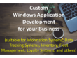 Create custom windows application with integrated database