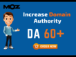 Increase domain authority moz da 40 to 60