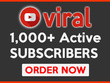 Add 1k+ active YouTube subscribers to your channel within 4 days
