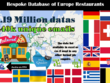 Europe Restaurant Database 1.4 million with over 440K emails