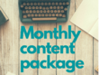 Monthly Content Package - 4 x high-quality, researched articles!