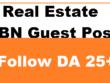 Write And Publish 5 Niche Real Estate Permanent PBN Post