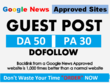 10 Guest Posts on Google News Approved Websites - DA50+