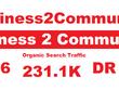 Guest Post on Business2Community.com Business2Community DA 86