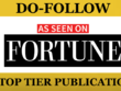 PUBLISH guest post on fortune within 10 days