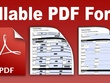 Design interactive fillable and editable PDF form