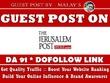 Guest Post on Jpost. Jpost.com - DA 91 - Dofollow Backlink