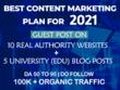 Guest post on 15 High DA Websites with Unique Content DA 50-90+