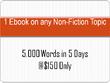 Write a 5,000 words ebook  in 5 days