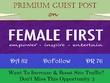 Write and Publish A Dofollow Guest Post FemaleFirst.co.uk DA-82