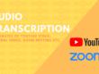 Transcript 30 minutes of audio (Zoom meeting, Youtube, etc.)
