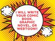 Write a comic book or graphic novel or webtoon